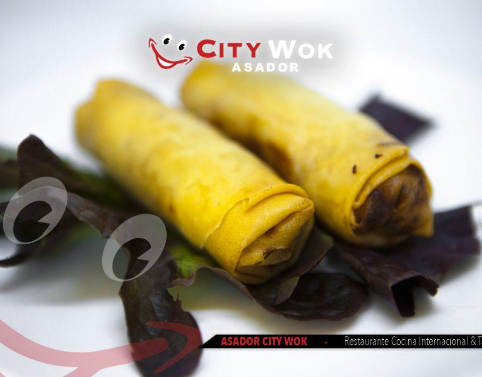 Rollitos de primavera en City Wok
