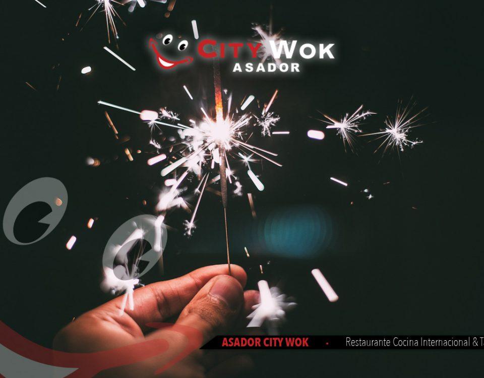 Celebra Nochevieja en Asador City Wok de Cádiz