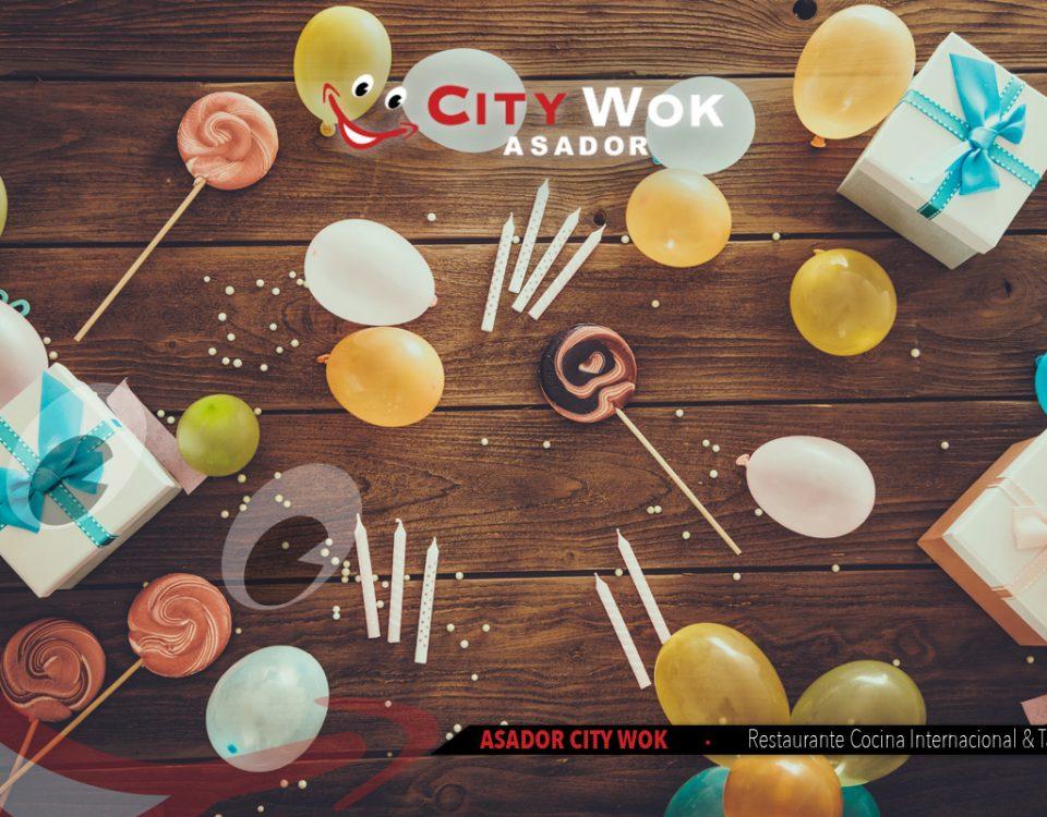 Celebración de cumpleaños y eventos en City Wok Cádiz