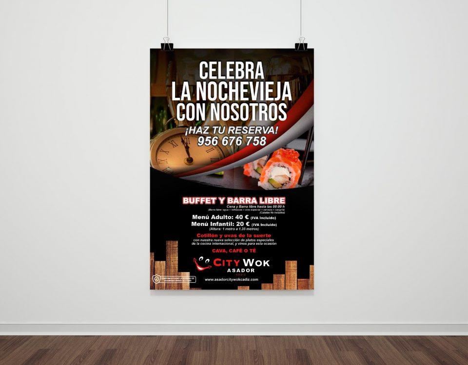 Nochevieja 2020 en Asador City Wok Cádiz